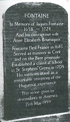 grave stone for Jacques Fontaine