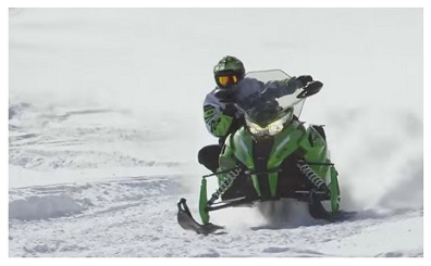 Winter snowmobiling in Canada