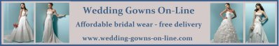 Wedding gowns online ad, affordable and beautiful, cost includes delivery to you