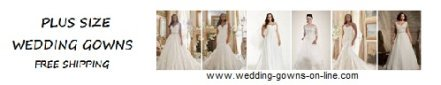 Plus Size wedding gowns online, free shipping