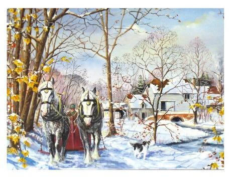 December Morning Horses