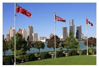 Windsor Detroit Skyline