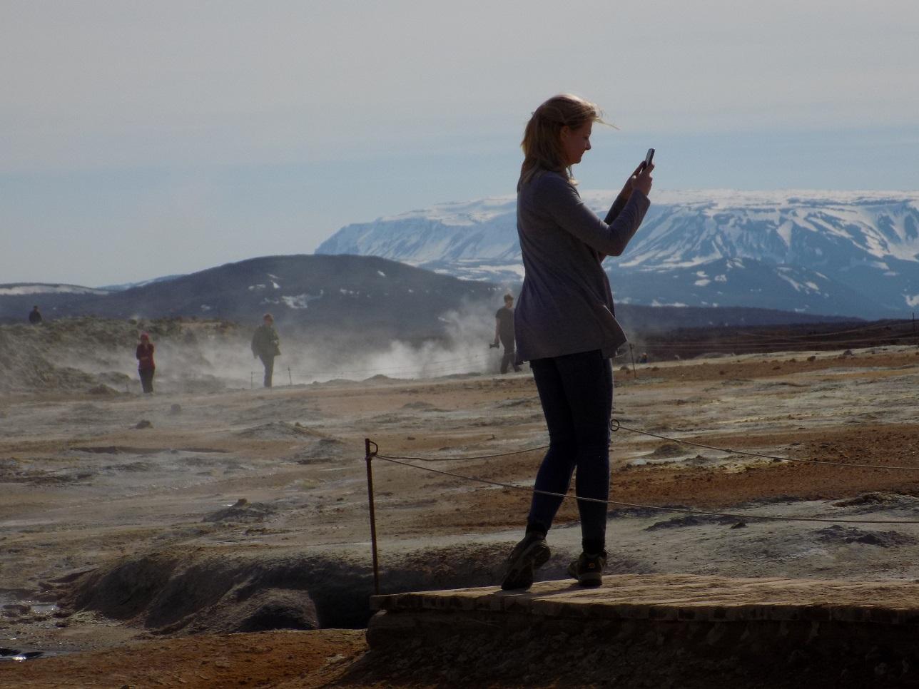 Hverir Namafjall sulfur mud pools