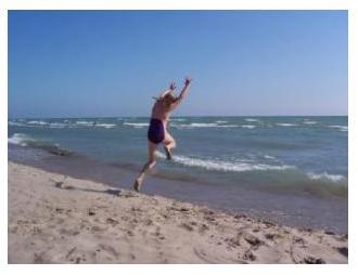 Summer beach at Lake Erie