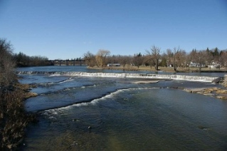 The Thames river in the town of St Marys Ontario