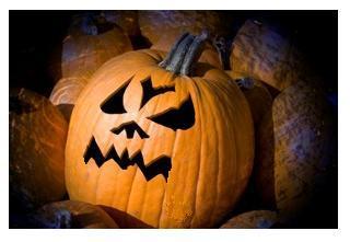 Scary Halloween Pumpkin Jack-o-lantern