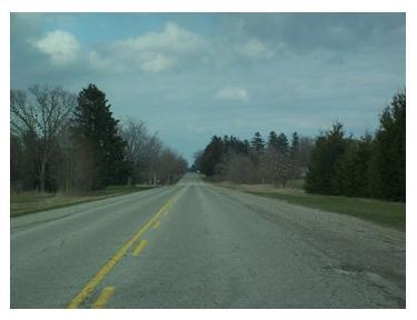 No traffic on Highway 3, Eagle, Ontario, quiet Ontario roads