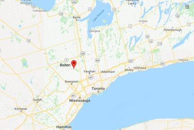 Location of Bolton, Ontario