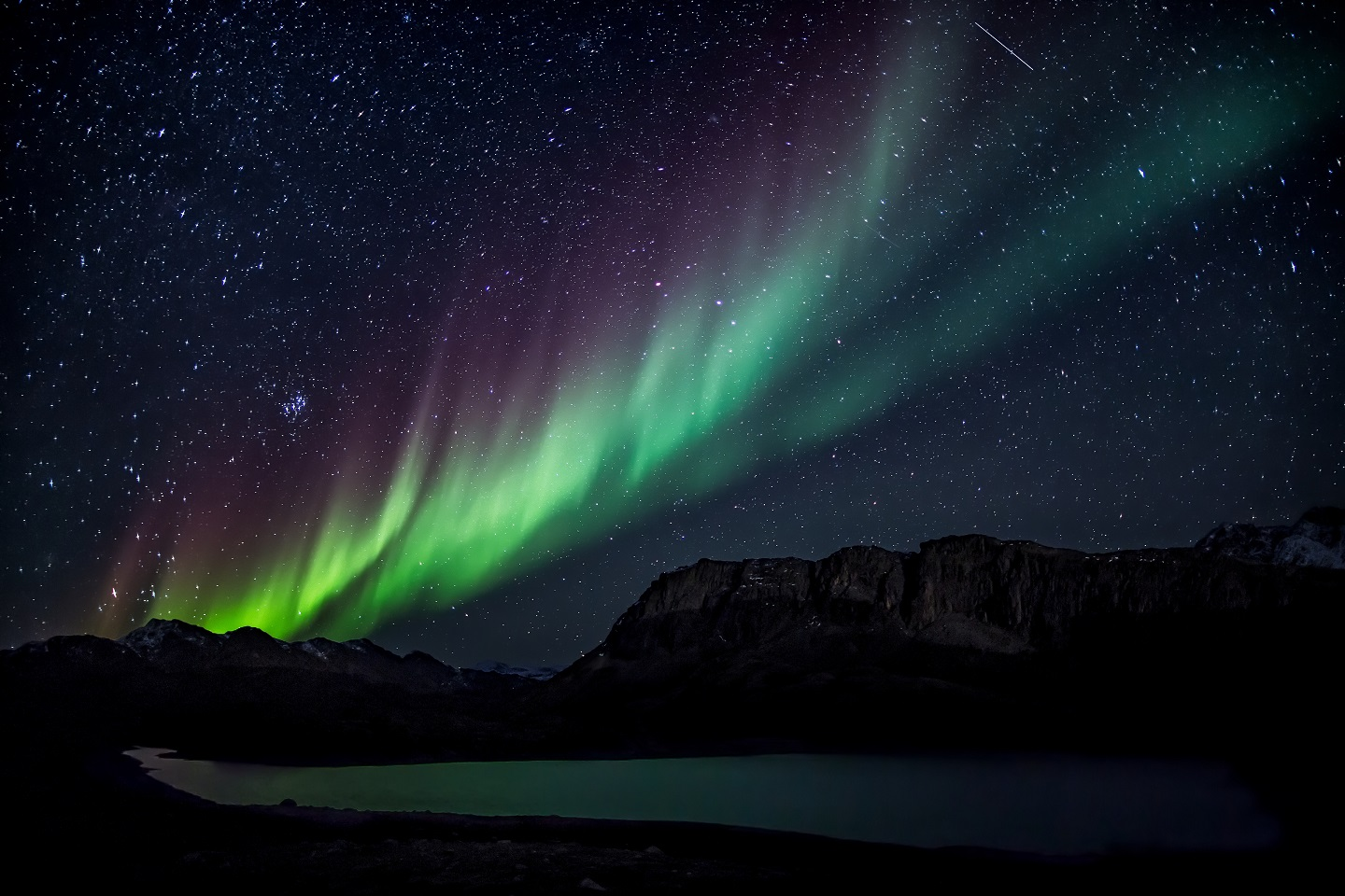 Winter Northern Lights in Canada