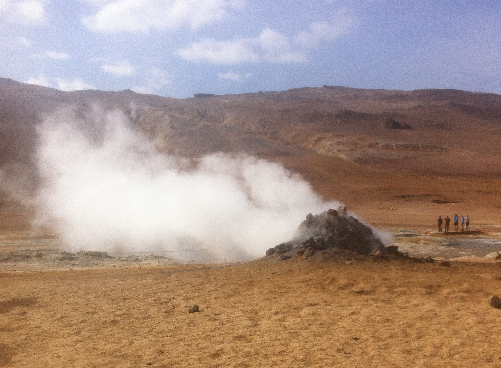 Fumaroles in Iceland