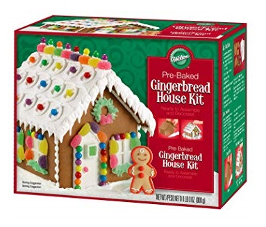 Gingerbread house kit for children at Christmas