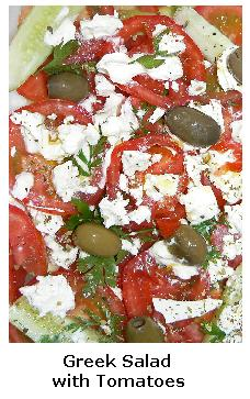 Greek Salad with Olives and Tomatoes