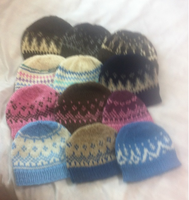 Wooly knitted hats, Iceland
