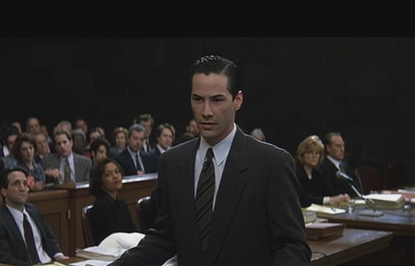 Keanu Reeves as Kevin Lomax in The Devil's Advocate