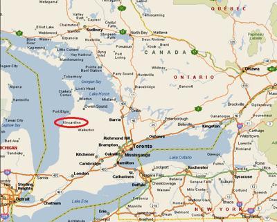 Kincardine map  Ontario