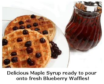 Waffles and Ontario Maple Syrup