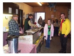 Maple Syrup Festival, Aylmer, child and father waiting for pancakes
