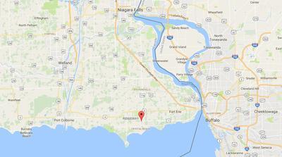 Map of Ridgeway, Ontario