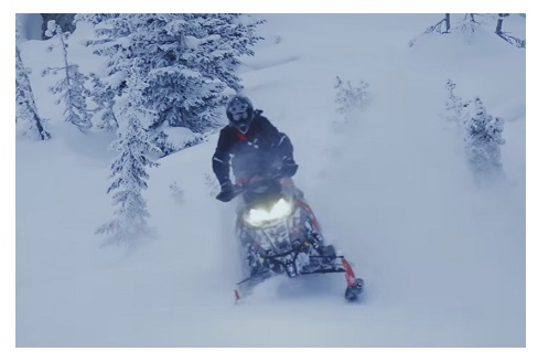 Snowmobiling on OFSC trails in Ontario