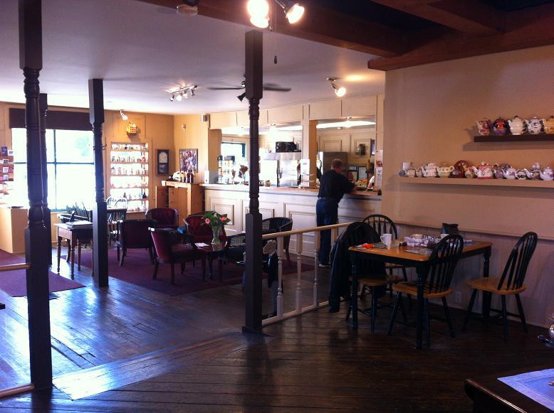 inside the Sparta House Tea Room and Restaurant, Ontario
