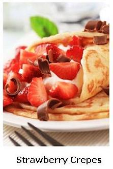Delicious Strawberry Crepes