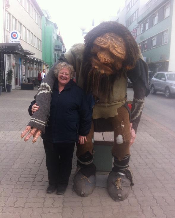 Troll and me in Akureyri Iceland