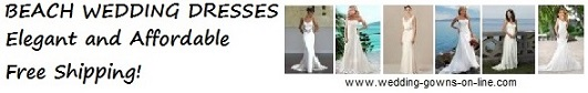 Beach Wedding Dresses - online bridal gowns - free shipping