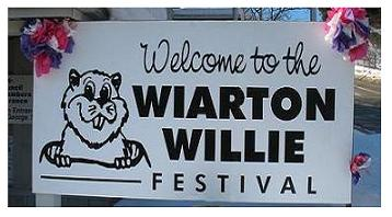 Wiarton Willie Groundhog sign