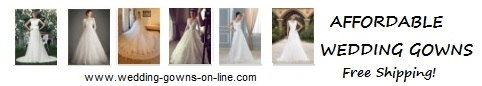 Affordable Wedding Gowns online - free shipping