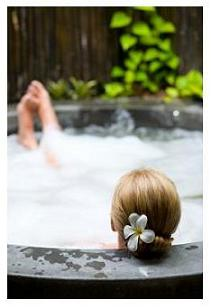 hot tub with spa marvel - no itchy skin or rashes