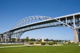 Bluewater Bridge at Sarnia Ontario neighbour to Port Huron Michigan