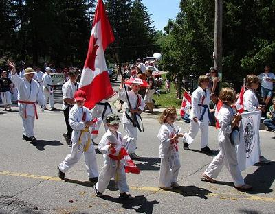 Proud young Canadians