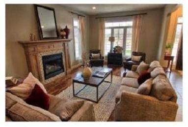 Collier homes model home living room St Thomas Ontario