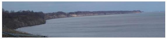 Lake Erie shoreline and peninsula