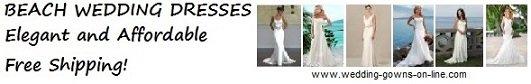 Beach Wedding Dresses online - free shipping!