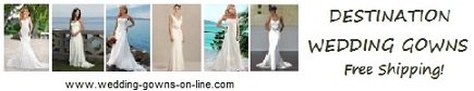 Destination wedding gowns - affordable & beautiful